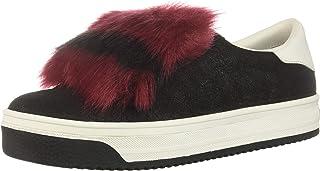 حذاء رياضي نسائي متعدد الألوان من مارك جاكوبس إمبراير مع فرو صناعي, (Black/Multi), 37 EU
