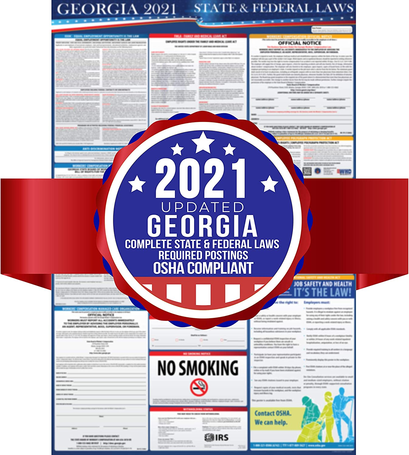 2021 Georgia State Selling rankings and Federal Labor - Max 43% OFF Laws OSHA Workplac Poster