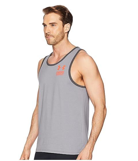 de UA Grey Armour Coral Under izquierdo Stealth Gris pecho Camiseta zinc Neon tirantes apiladas de TZXpxU