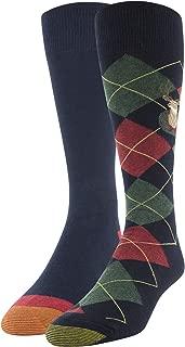 Men's Dress Crew Socks, 2 Pairs