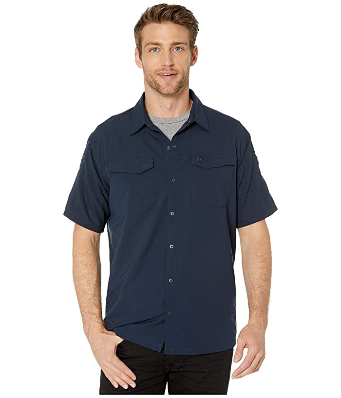 5.11 Tactical  Freedom Flex Woven Short Sleeve Shirt (Peacoat) Mens Clothing