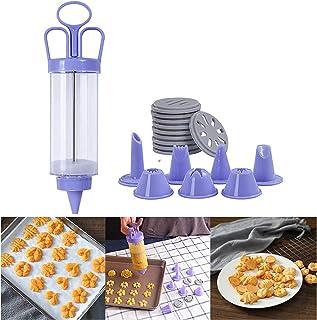 ALUYF Pistolet Presse à Biscuits Fabricant de Presse à Biscuits Pistolet à décoration de crème Seringue à Cupcake pour la ...
