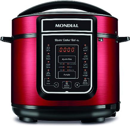 Mondial PE-39 Panela de pressão Elétrica Master Cooker 5L, 127V, Vermelho