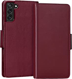 "FYY Samsung Galaxy S21 Plus Case 6.7"", Samsung S21 Plus 5G Case, Luxury [Cowhide Genuine Leather][RFID Blocking] Wallet Ca..."