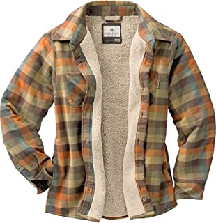 Legendary Whitetails Women's Open Country Fleece Lined Plaid Shirt Jacket