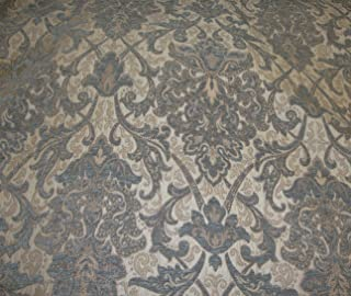 "luvfabrics 57"" Wide Royalty Damask Chenille Upholstery Drapery Fabric by The Yard"
