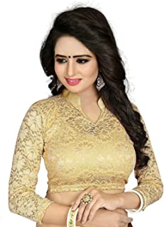 7049797d9b1a82 CDPL Express Present Women's Cotton Free Size Full Sleeve Readymade Net  Saree Blouse