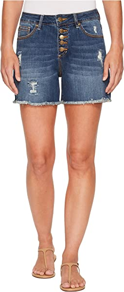 Jag Jeans - Jules High-Rise Cut Off Denim Shorts in Thorne Blue