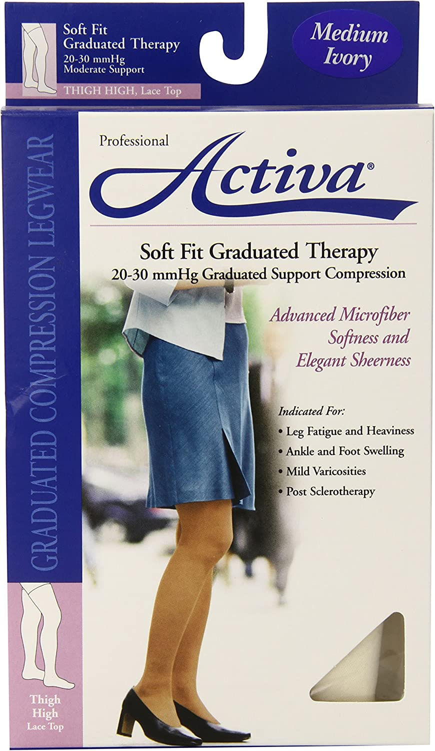 Activa Max 86% OFF Soft Fit 20-30 mmHg Thigh with Stockings Lace I High Top price