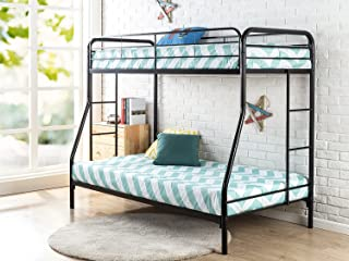 """Zinus Craig Quick Lock Metal Bunk Bed Narrow Twin Cot size 30"""" x 75"""" over Regular Twin 39"""" x 75"""" / Easy Assembly in Under an Hour"""