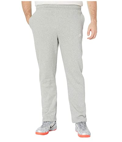 Nike Big Tall NSW Club Pants Open Hem (Dark Grey Heather/Matte Silver/White) Men