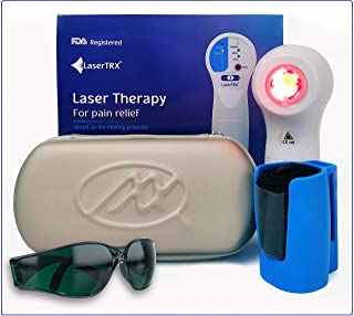 LaserTRX - 4 in 1 Home Use Pain Relief Device - Combined Low Level (Cold) Laser Therapy, Red Light, Infrared Light & Magnetic Field - Treat Any Kind of Inflammation, Pain & Infection - Made in Israel
