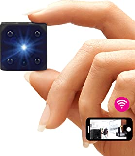 Peecla Telecamera Nascosta Wifi Mini Videocamera Sorveglianza Interno Senza Fili Full Hd Con App 2° Generazione Spy Cam Co...