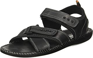 Action Shoes Men's Black Sandals - 10 UK/India (44.5 EU)(NL-3101)