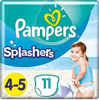 schwimmwindeln Pampers Größe 4-5 Splashers Baby Windeln, 11 Stück, Schwimmwindeln Mit Doppeltem Beinbündchen