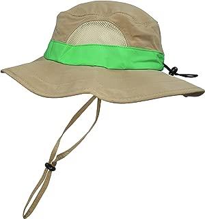 Kids Safari Floppy Bucket Hat Outdoor Adventure, Adjustable Head Band, Wide Brim, Chin Strap & Mesh Ventilation Panels