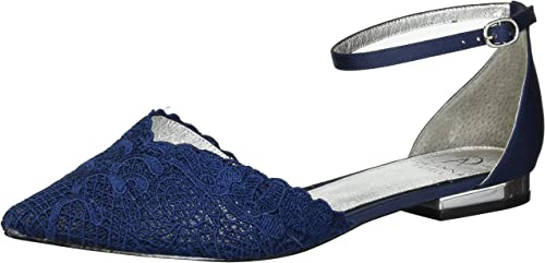 Adrianna Papell Wohommes TRALA Mary Jane Flat, Navy attalie lace, 8 M US