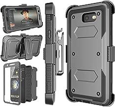 Njjex Galaxy J7 Sky Pro Case,for J7 V/ J7 Perx / J7 Prime Case, [Nbeck] Heavy Duty Built-in Screen Protector Rugged Holster Locking Belt Swivel Clip Phone Cover & Kickstand for Samsung J7 2017 [Grey]