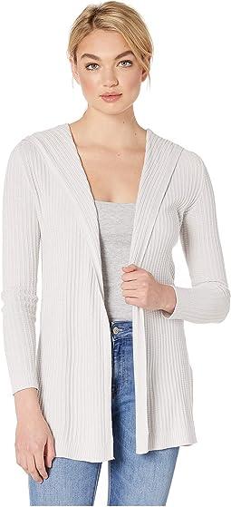 Long Sleeve Cotton Modal Open Sweater Hoodie