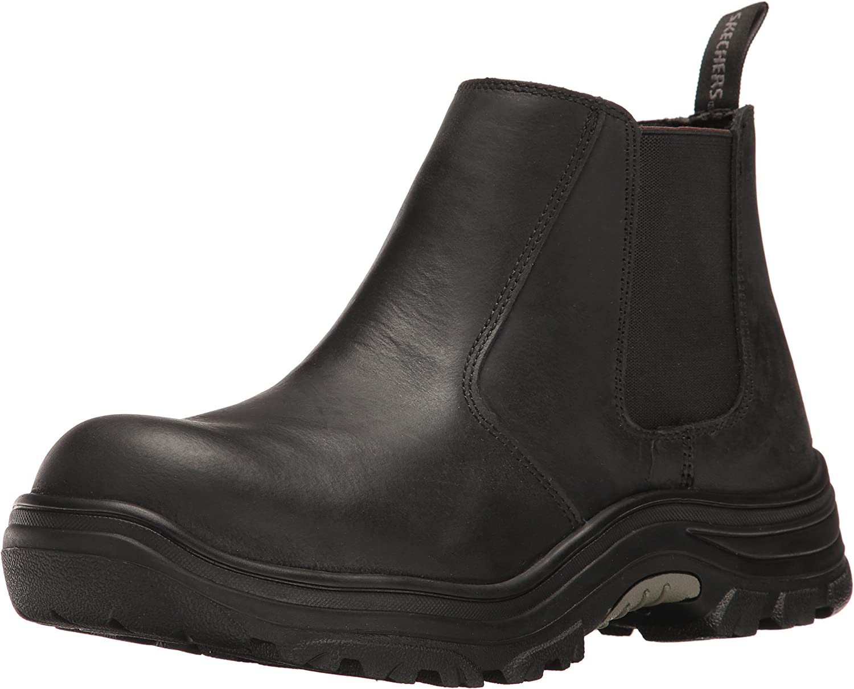 Skechers For Work Men's burgin Glennert Work Stiefel,schwarz,9.5 M US