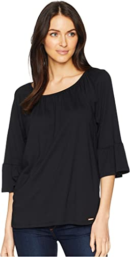 Gathered Sleeve Peasant Top
