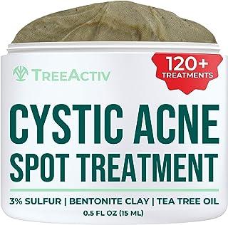TreeActiv درمان آکنه کیستیک، فرمول بهترین عملکرد فوق العاده قدرتمند برای پاک کردن آکنه شدید از صورت و بدن، مناسب برای پوست های حساس، بزرگسالان، نوجوانان، مردان، زنان 0.25oz (0.25oz)