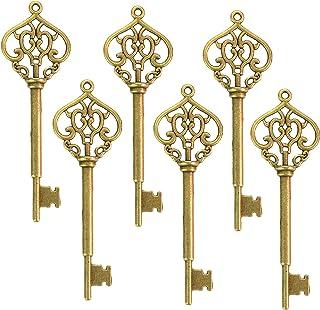 Makhry Mixed 30 Vintage Skeleton Keys Heart-Shape Decorative Key Wedding Party Favor Home Decor (Bronze)