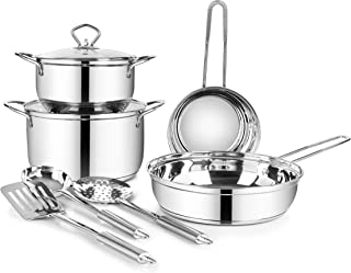 Classic Essentials Supreme Stainless Steel Cookware Set Silver 9-PieceClassic Essentials SS 09, CE-SV09