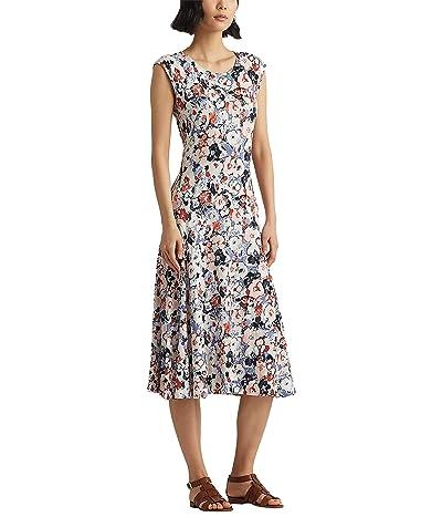 LAUREN Ralph Lauren Floral Linen Jersey Midi Dress