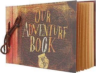 Photo Album Scrapbook, Movie Up Travel Themed Our Adventure Book DIY Photo Book Scrapbook for Anniversary, Wedding, Trave...