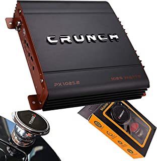 Crunch PX-1025.2 1000 Watts Power X Two Channel Car Audio Amplifier with Gravity Magnet Phone Holder Bundle photo