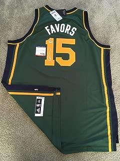 Derrick Favors Autographed Signed Memorabilia Official Swingman Jersey (Size XL) Nba Jazz PSA/DNA