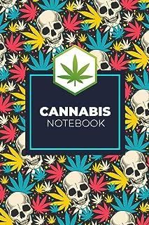 Cannabis Notebook: ~ Marijuana Review Notebook Planner Skull Marijuana Leaves Edition