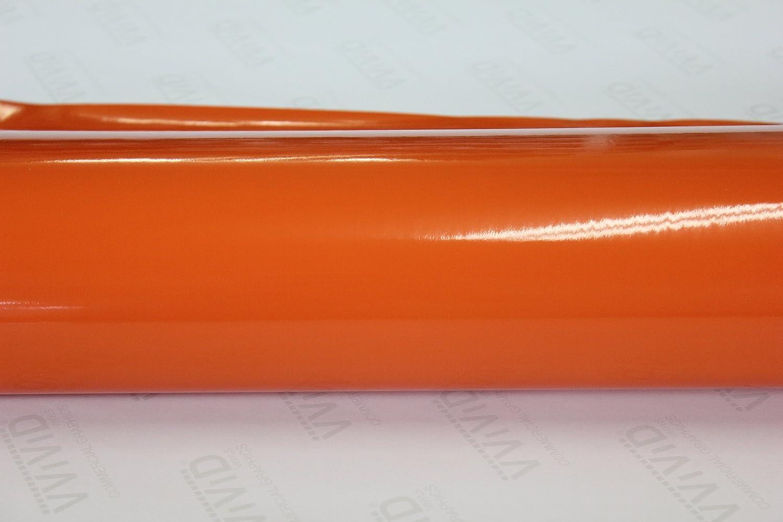 VViViD Orange Gloss 5 Feet x 6 Air with Dealing full price reduction Rel Vinyl Wrap Roll Superlatite