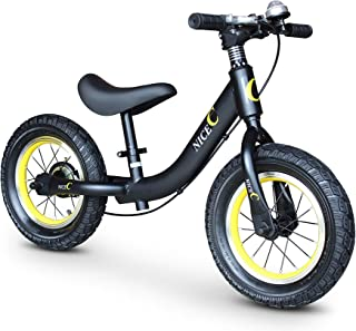 Nice C Balance Bike for 18 Month-5 Years-Girls & Boys-No Pedal with Compass & Bell-Toddler Sport Balance Bike, 12 INCH
