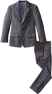 Big Boys' Slim Boys 2 Piece Cut Linen/Cotton Suit