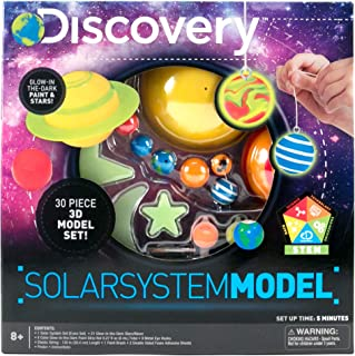 Discovery 3D Solar System by Horizon Group USA, Great Stem Science Kit, 1 Solar System, 4 Glow In The Dark Paints, 21 Glow In The Dark Ceiling & Wall Stickers & More