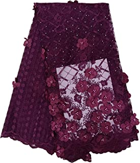 Home & Garden Humor 2019 Latest Novelty French Rose Red Lace Nd Sequins Design African Lace Fabric For Wedding Dress