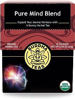 Organic Pure Mind Blend Tea - Kosher, Caffeine-Free, GMO-Free - 18 Bleach-Free Tea Bags