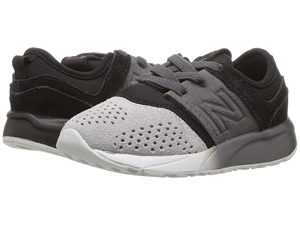 New Balance Kids KA247v1I (Infant/Toddler) (Black/Castlerock) Boys Shoes