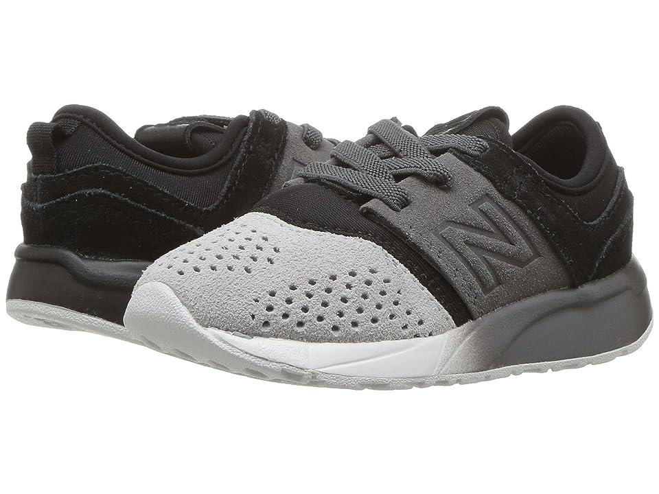 New Balance Kids KA247v1I (Infant/Toddler) (Black/Castlerock) Boys Shoes