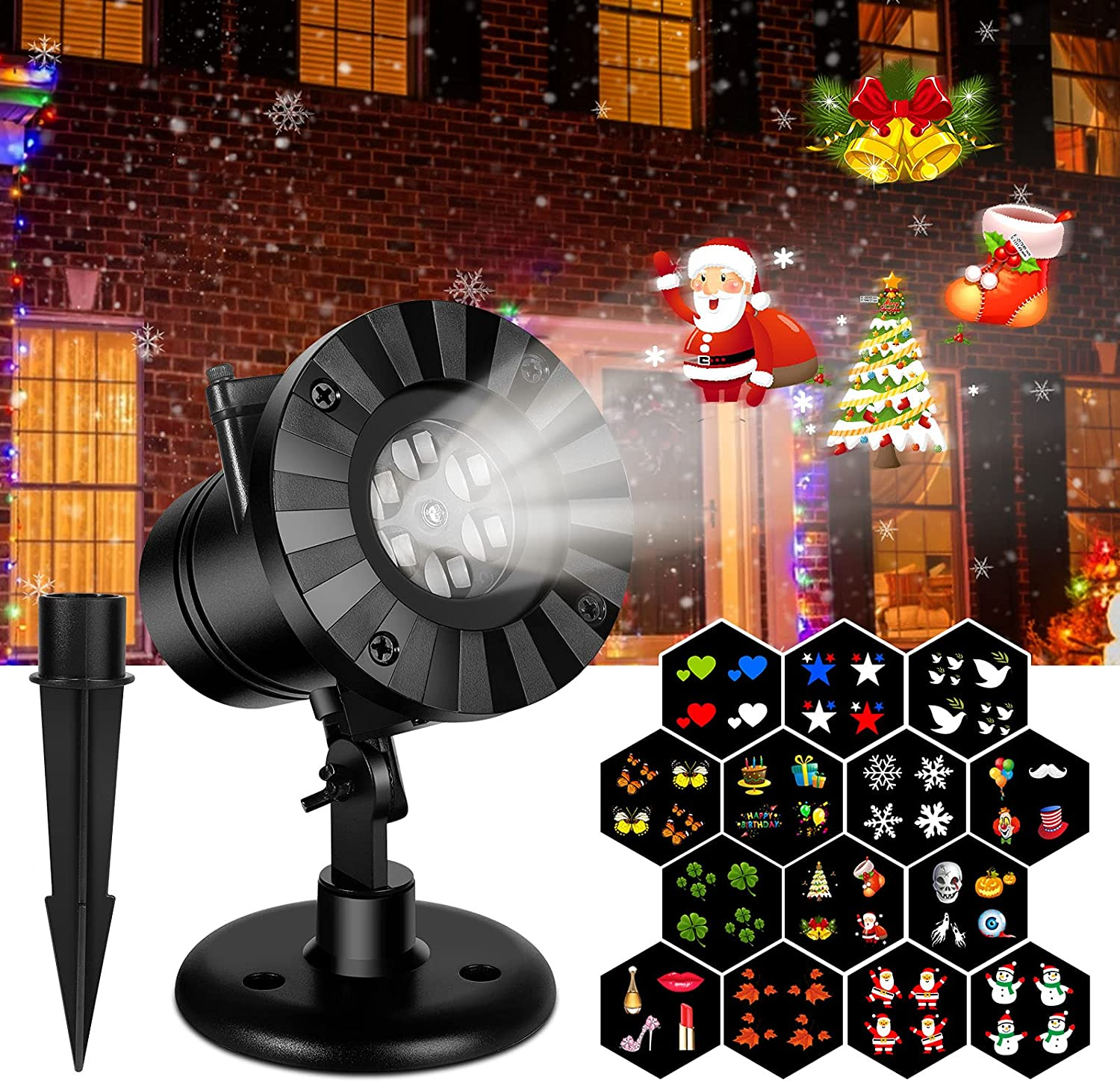 TOPCHANCES Ranking TOP18 Christmas In a popularity Projection Lights Outdoor Led 14 Sn Slides