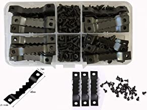 100 zaagtanden, ophanghaakjes, zwart met 200 schroeven, tandhangers
