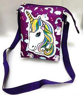 KIDOS JOY™ Funky Stylish Beautiful Unicorn Adjustable Shoulder Sling with Smooth Zipper / Outdoor Sling/ Picnic Sling / Bi...