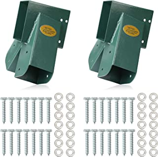 BETOOLL Easy 1-2-3 A-Frame 2 Brackets Swing Set Bracket with Mounting Hardware (Green)