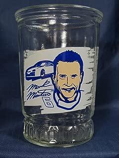 Vintage Bama Jelly Glass Nascar Mark Martin Batesville Arkansas 6 Jam Jar