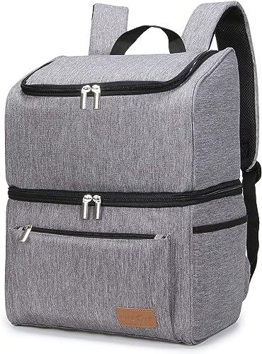 Lifewit Sac de pique-nique Sac à Dos Isotherme à Glacière Cooler Backpack Bag, Sac Isotherme Portable Pour Déjeuner P...