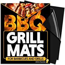 Chef Remi Grill Mat Set - 2 Non Stick, Reusable, Heat Resistant To 500°F Teflon Grilling Mats For All Types Of Barbecues - Voted 'Best BBQ Accessories For 2019' - Lifetime Manufacturers Warranty