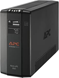 APC UPS, 850VA UPS Battery Backup & Surge Protector, BX850M Backup Battery, AVR, Dataline Protection and LCD Display, Back...