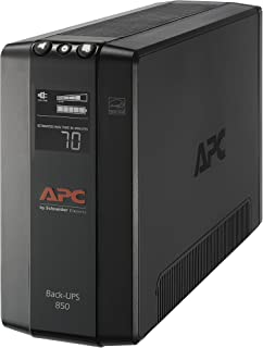 APC UPS, 850VA UPS Battery Backup & Surge Protector with AVR, Uninterruptible Power..